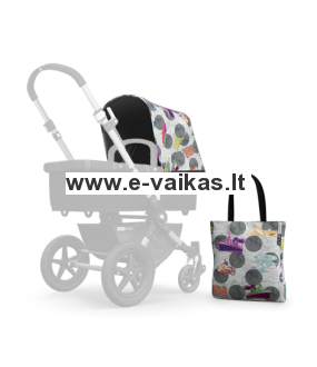 Bugaboo Cameleon3 vežimėlio audinys Transport Dark Grey by Andy Warhol
