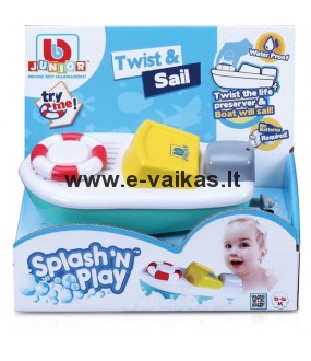 BB JUNIOR vonios žaislas Splash 'N Play Twist & Sail, 16-89002