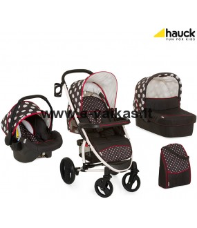 HAUCK vežimėlis Malibu XL All in One Dots Black 146057