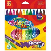 COLORINO KIDS nuplaunami flomasteriai Jumbo, 12 sp., 14113PTR
