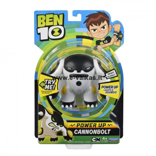 BEN10 figūrėlė Power Up Cannonbolt, 76606