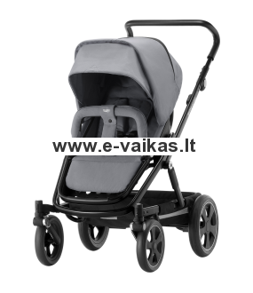 BRITAX vežimėlis GO BIG² BLACK Steel Grey 2000029404