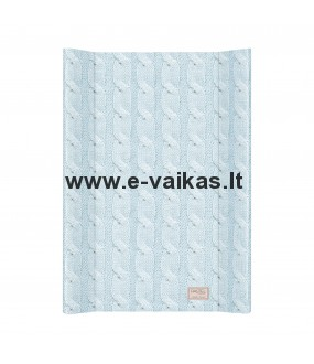 CEBA vystymo lenta 50x80 Pastel Collection Cable stitch Blue