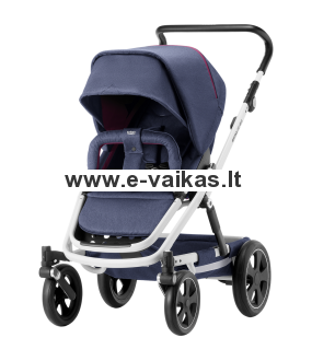 BRITAX vežimėlis GO BIG² WHITE Oxford Navy 2000027975