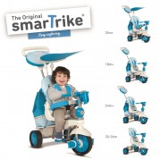 SMART TRIKE triratukas mėlynas Splash, 6800300