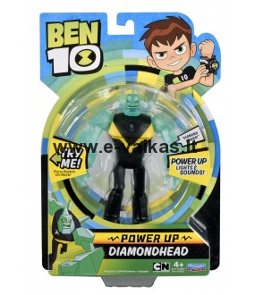 BEN10 figūrėlė Power up Diamondhead, 76602
