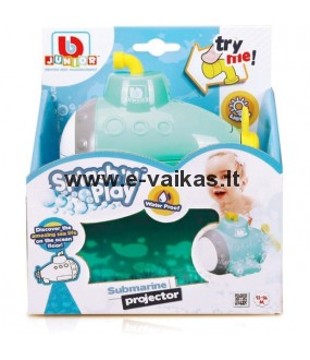 BB JUNIOR vonios žaislas Splash 'N Play Submarine Projector, 16-89001
