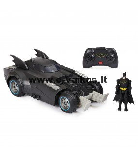 BATMAN 1:16 valdomas automobilis su figūrėle Launch & Defend Batmobile, 6055747