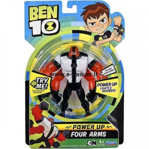BEN10 figūrėlė Power up Four Arms, 76603