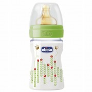 CHICCO buteliukas Well-Being 150ml 0m+ lateksas Neutral