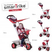 SMART TRIKE triratukas , Dream team 1590500, raudon