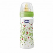 CHICCO buteliukas Well-Being 250ml 2m+ lateksas Neutral